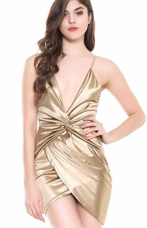 backless gold spaghetti strap dress