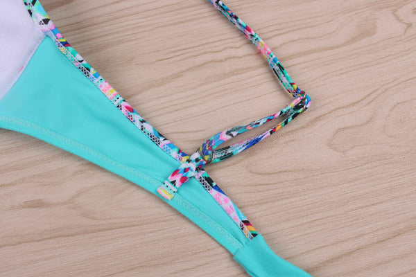 brazilian tropical print bikini