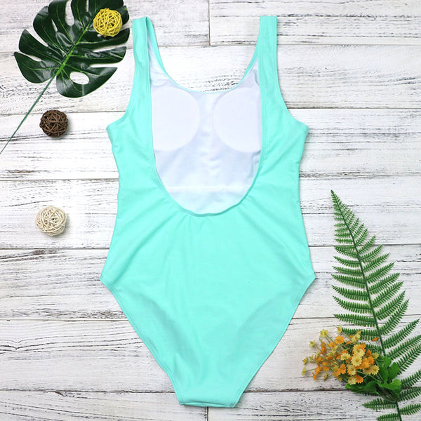 hand print one piece swimsuit