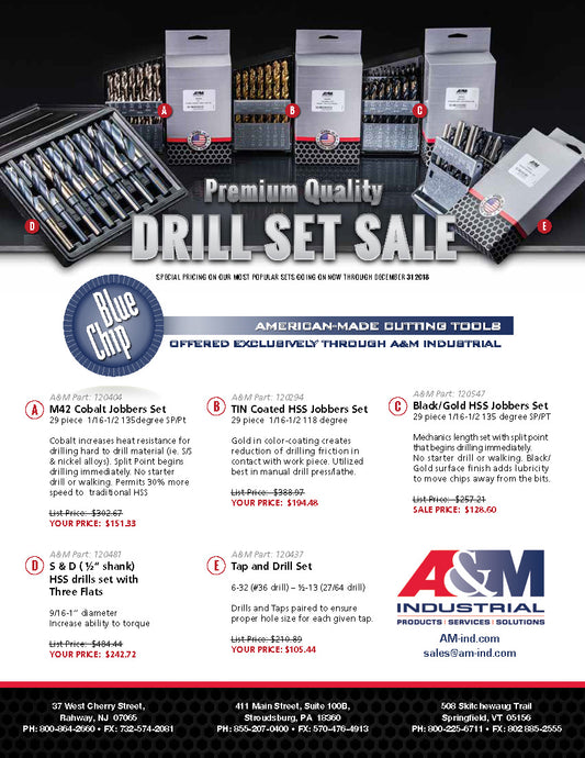American-Made Drill Set Sale