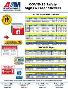 COVID-19 Safety Signs & Floor Stickers