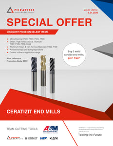 Ceratizit End Mill Special Offer Till 5/31/2020