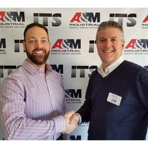 Steve Chadwick (Left), Branch Manager of ITS, with David Young, CEO of A&M Industrial