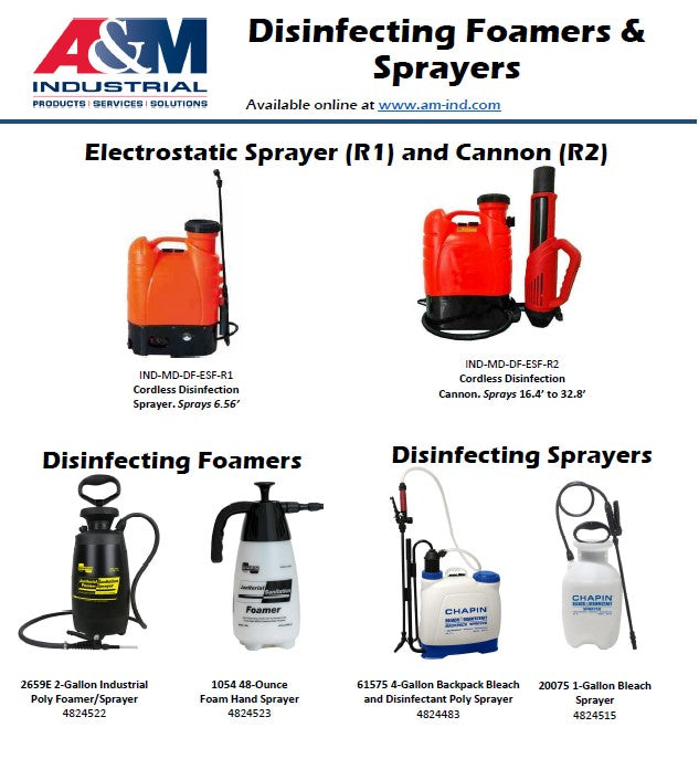 Disinfecting Sprayers and Foamers