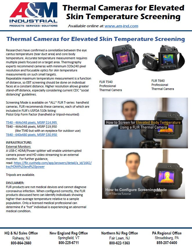 Thermal Cameras for Elevated Skin Temperature Screening