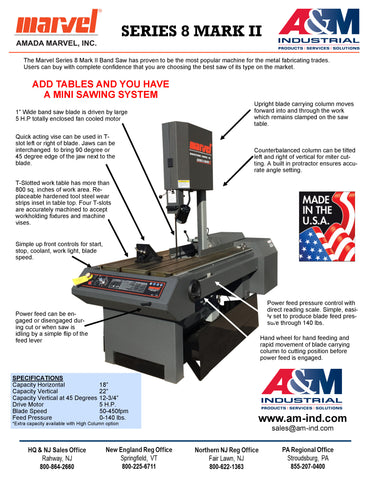 Marvel Series 8 Mark II Band Saw