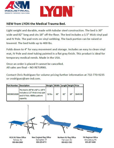 Medical Trauma Bed