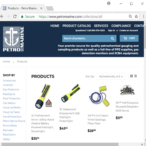 Petromarines website