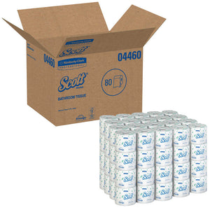 SCOTT® 2-PLY STANDARD ROLL BATH TISSUE, 1 Case of 80 Rolls (4460)