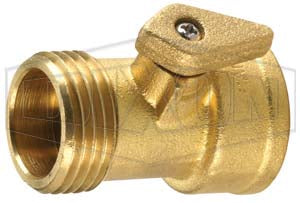 "Dixon 500GHV GHT Brass Ball Valve, 3/4"" GHT Male X Female, Shut-Off Valve"