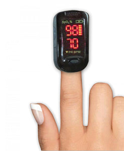 Portable Fingertip Pulse Oximeter, Dual LED Display Modes