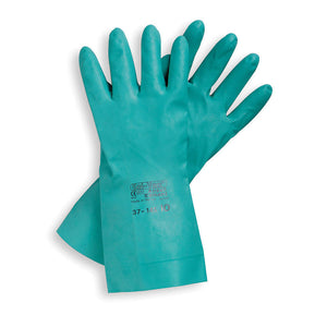 ANSELL 11 mil Sol-Vex Nitrile Immersion Unlined Gloves with Straight Cuff, Large, 12 pk