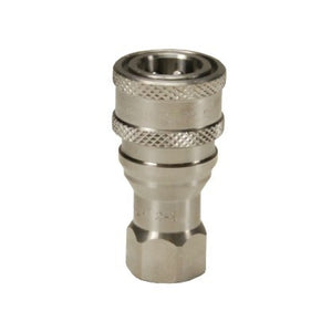 "DIXON DQC H-Series ISO-B Poppet Valve Female Threaded Coupler, Steel, 1/2"" - 1"""