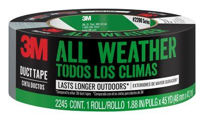 3M All-Weather Duct Tape, 2245-A, 1.88 in x 45 yd (48mm x 41.1m)