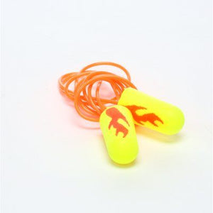 3M E-A-Rsoft Yellow Neon Blasts Earplugs 311-1252, Corded, Poly Bag, Regular Size