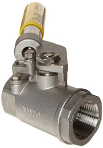 APOLLO VALVES 76-500 Series Stainless Steel Ball Valve with Spring Return Handle