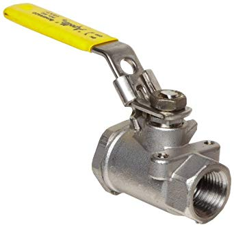 APOLLO VALVES 76-100 Series Stainless Steel Ball Valve with Mounting Pad