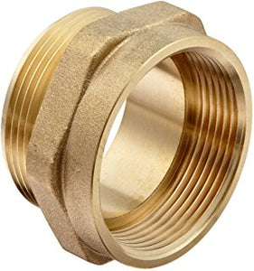 DIXON Female to Male Hex Nipple Brass, 1-1/2""