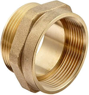DIXON Female to Male Hex Nipple Brass, 1-1/2