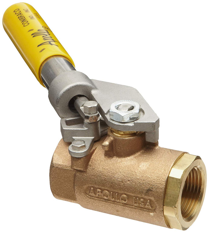 APOLLO VALVES 71-500 Series Bronze Ball Valve with Spring Return Handle