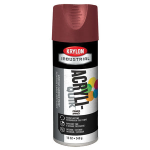 Sherwin-Williams Krylon K01317 Acryli-Quik Alkyd Primer, 16 oz Aerosol Can, Flat Ruddy Brown