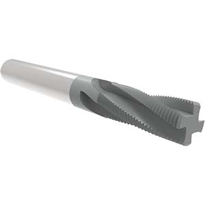 "Allied TM37516 .375""-16UN CARBIDE, THREAD MILL, 4 HELICAL FLUTES, .285"" CUT DIA, .312"" SHK, .750""LOC, TIALN COATED, 3"" OAL"