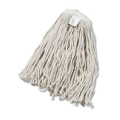 Boardwalk® Cut-End Wet Mop Head, Cotton, White, 12/Case