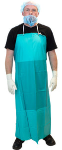 Green Vinyl Apron, Heavy Weight 20ml PVC, String Ties and Stomach Patch (DAV20)