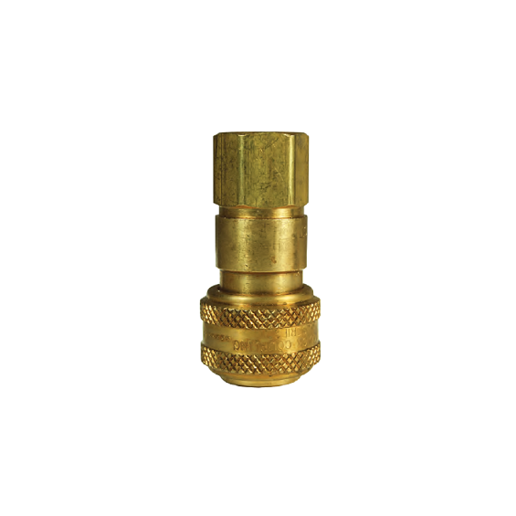 DIXON D-Series Pneumatic Automatic Female Threaded Coupler, 3/8