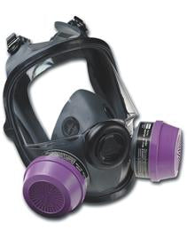 North Full Face Respirator, Dual Cartridge (7600)