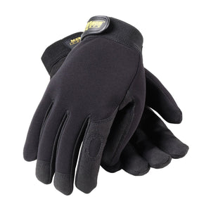 Professional Mechanic's Gloves, Black Size Large