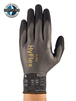 HYFLEX® 11-939 Lightest Weight Cut-Resistant, Oil-Repellent Gloves, Reinforced Thumb Crotch, High Durability (Dozen)