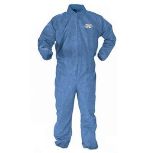 Kimberly-Clark* Professional KLEENGUARD* A60 Elastic Back, Wrists, & Ankles Bloodborne Pathogen & Chemical Splash Resistant Disposable Coveralls