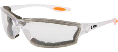 Clear Crews Law 3 Safety Glasses with Anti-Fog Lens and Foam Seal