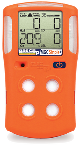 Multi Gas Clip Simple Plus 4 Gas Detector with 3 Year Run Time