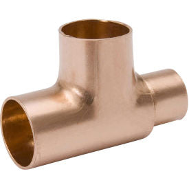 "MUELLER 1"" x 1"" x 1/2"" Wrot Copper Reducing Tee - Copper"