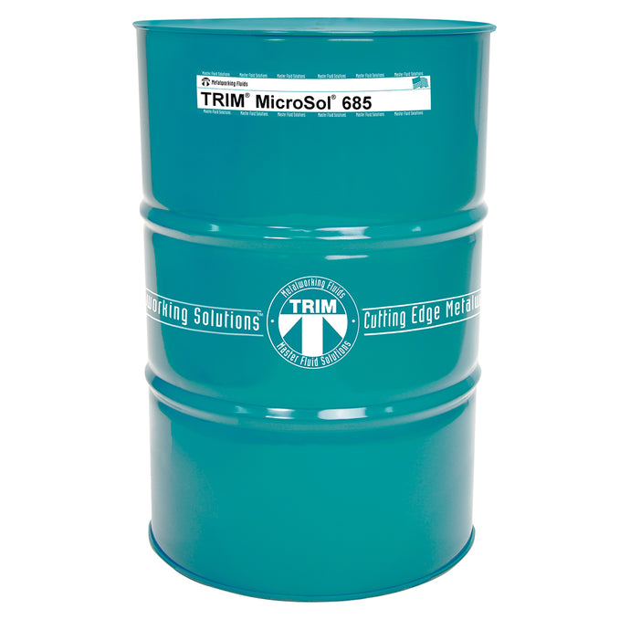 Master Chemical Trim MicroSol 685 High-lubricity Semisynthetic Metalworking Fluid MS685, 54-Gallon Drum