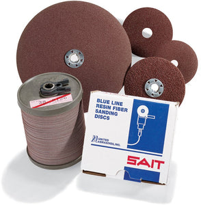 "UNITED 51036 4-1/2"" X 7/8"" 36 GRIT, TYPE 2A FIBER DISC, ALUMINUM OXIDE,, CLOSED COAT, 13,300 MAX RPM (PACKED, 100 PER BOX)"