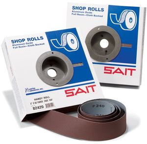 "UNITED 81206 1-1/2""X 50YD 120X GRIT, HANDY SHOP ROLL, DA-F MATERIAL,, ALUMINUM OXIDE GRAIN (PACKED 1 PER, BOX)"