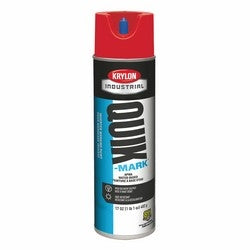 Sherwin-Williams A03911004 Quick-Mark Water Based Inverted Marking Paint, APWA Brilliant Red