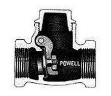 Powell Figure 1847 Stainless Steel Threaded Swing Check Valve