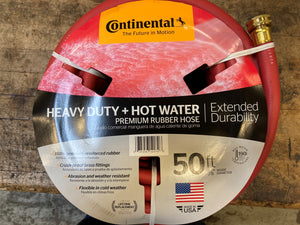 "Goodyear Hot Water Red Rubber Hose, Commercial Grade, 100 PSI, 20582672, 5/8"" x 50 ft"