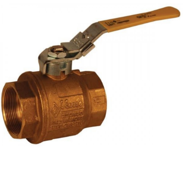 DIXON Locking Handle Imported Brass Ball Valve, 3