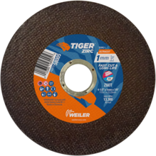 Weiler Long Life & Fast Cut Rate High Performance Tiger Cutting Wheels 58005/58100