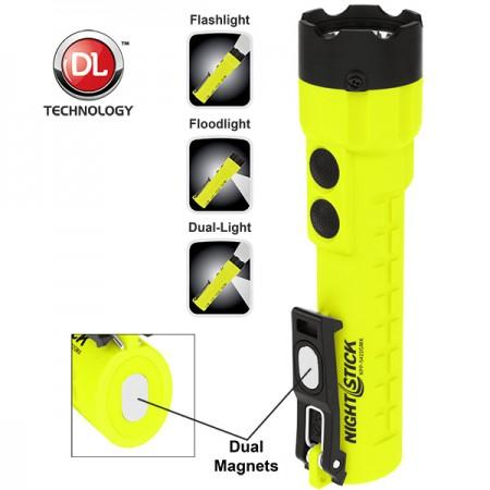 XPP-5422GMX X-Series Intrinsically Safe Dual-LightNight Stick Flashlight w/Dual Magnets