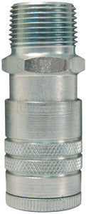 DIXON Air Chief Industrial Semi-Automatic Male Threaded Coupler; Steel, 3/8