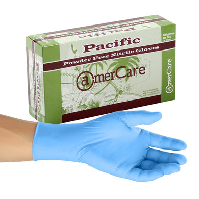 Pacific Blue Nitrile Gloves, 4.5 Mil, Powder Free, Textured Design, Case of 1,000 Gloves