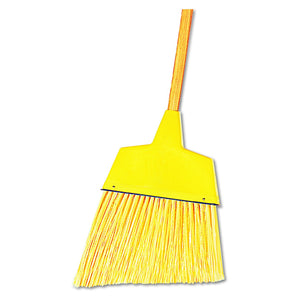 "Boardwalk 932A 13"" Angler Broom, Plastic Bristles, 42"" Wood Handle, Yellow"