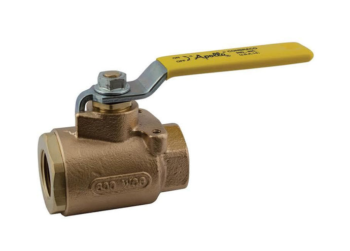 APOLLO VALVES 77-103-01 Bronze, Full Port, 2-Piece, NPT Ball Valve, 1/2