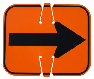 Work Area Protection 274604 RN 100-R Directional Sign, Arrow Left or Right, Reflective